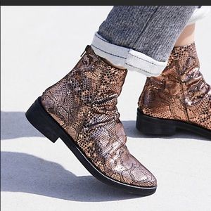 FREE PEOPLE Bronze Amarone ankle bootie BRAND NEW!